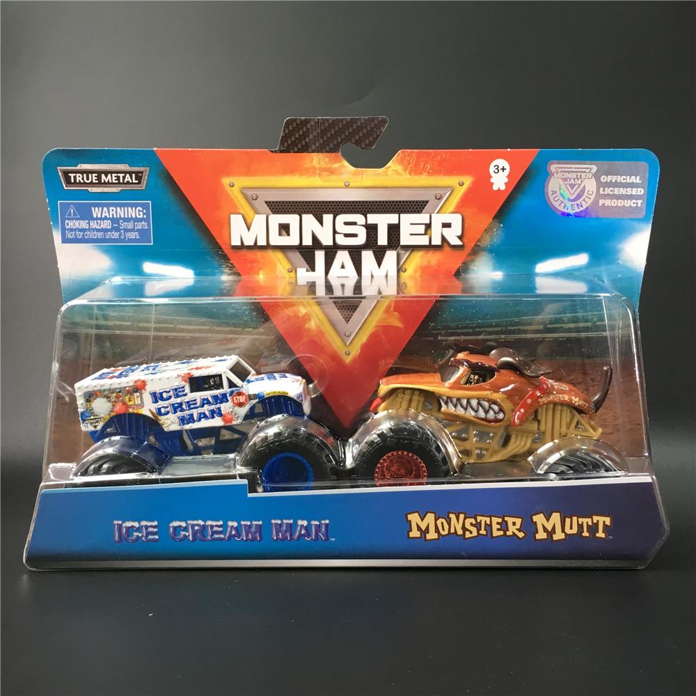 MONSTER JAM斯平玛斯特怪兽大脚车 越野卡车玩具冰淇淋人怪物马特