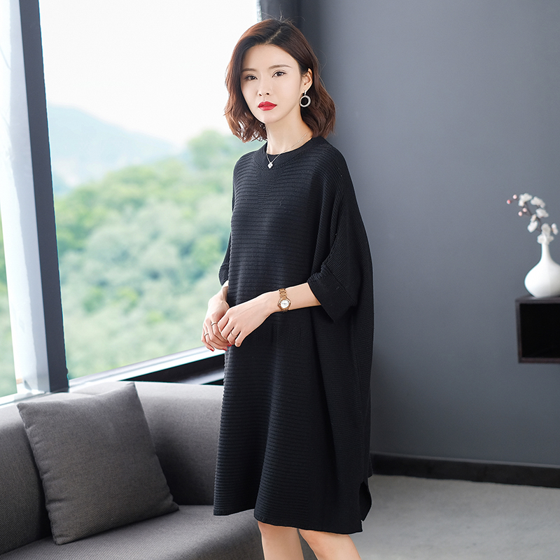 It can be matched with coat, sweater, knitted dress, womens 2021 medium length dress, thin yarn long sleeve bottom coat