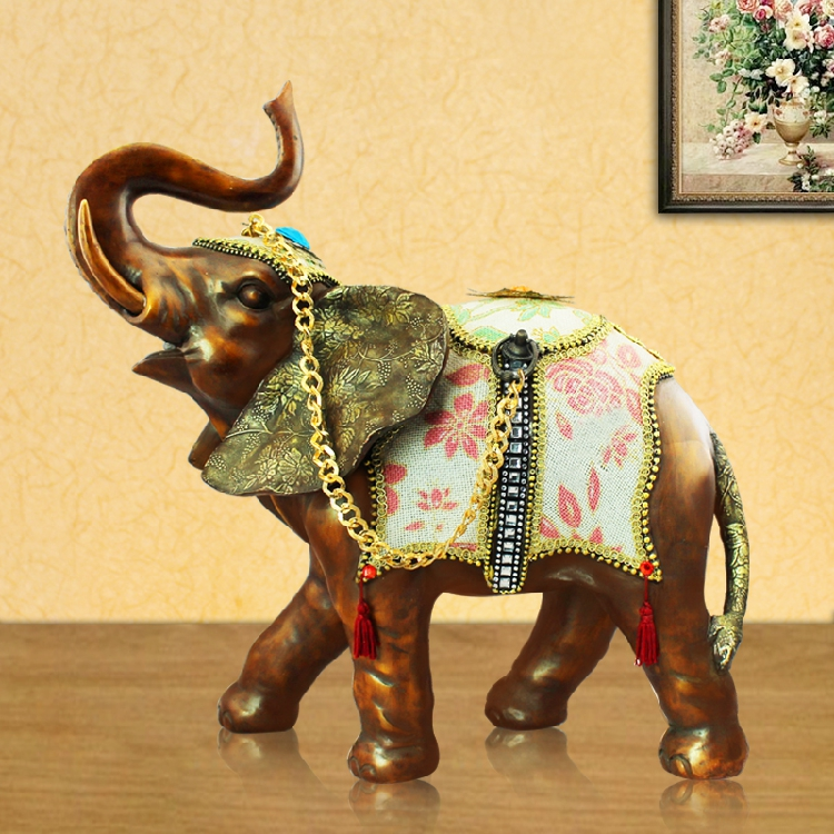 Thai Thai fortune elephant home decoration crafts decoration living room office table TV cabinet town house decoration