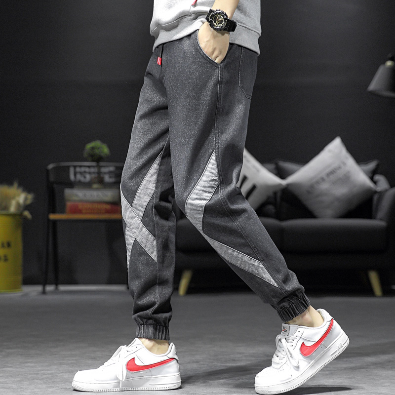 Jeans mens loose Harem Pants autumn and winter thickened Leggings plus size overalls
