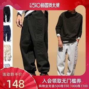 加绒束脚大码nuthink男潮篮球男裤
