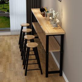 吧台桌简约现代长条阳台客厅家用小高脚桌椅组合铁艺靠墙桌子定制