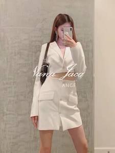 设计师品牌短款西装钻扣迷你半裙套装2019春秋新款女装