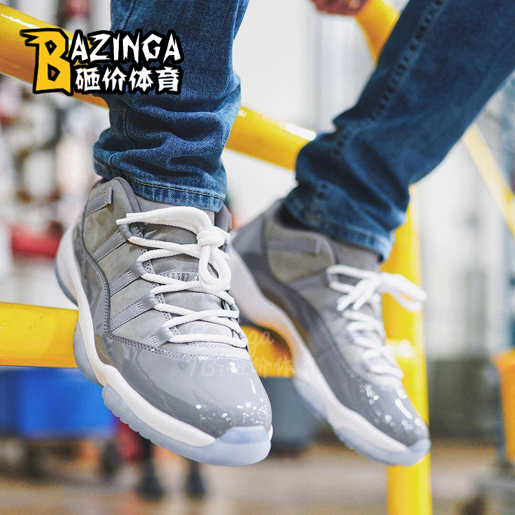 砸价体育 Air Jordan 11 Low Cool Grey AJ11酷灰低帮 528895-003