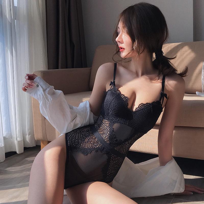蜜桃盒子连体内衣女小胸聚拢美体衣微塑身收副乳蕾丝性感文胸罩春