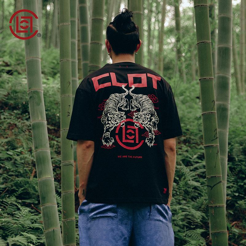【CLOT】老虎印花短袖T恤 华人系列 黑色 陈冠希主理