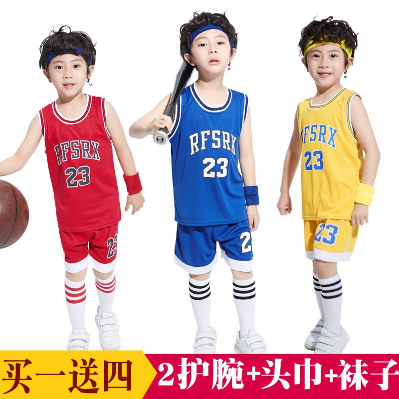 儿童篮球服背心套装中大童夏季衣服学生训练服nba乔丹小孩篮球衣