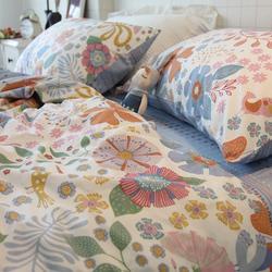 全棉小清新三件套宿舍学生床上用品纯棉被套床单床上四件套女网红