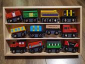 木制12辆磁性手推小火车兼容原木轨道套装男生益智玩具宝宝礼物3