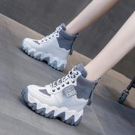 老爹女鞋2020秋季新款网红百搭内增高跟厚底高帮休闲运动ins潮鞋