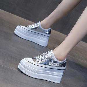 厚底鞋子女鞋2021年春夏季新款内增高小白鞋百搭休闲运动春秋单鞋