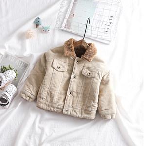 宝宝外套加绒加厚男女童装上衣 2019冬季新款婴儿灯芯绒棉衣1-3岁