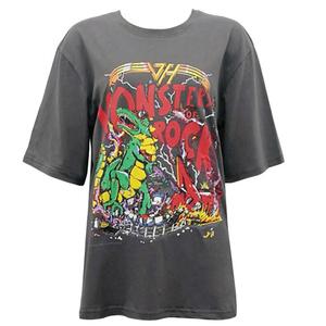 lisa同款恐龙印花短袖夏季新款t恤