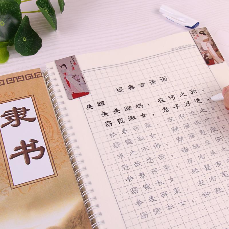 学生隶书钢笔字帖 标准隶书入门字帖 可反复使用 常用字 三十六记 弟子规 千字文 古典诗词 成人隶书硬笔字帖