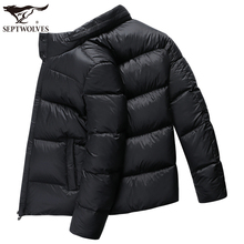Seven wolves down jacket men's short paragraph 2018 winter new green middle-aged warm thick dad men's jacket men's clothing