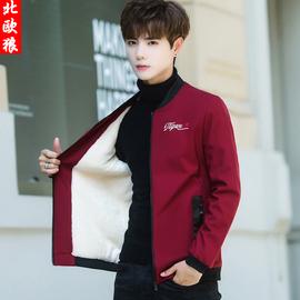 外套男冬季2020新款韩版潮流帅气上衣服男装冬装加绒加厚男士夹克
