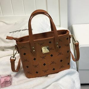 水桶包小包包2021新款潮韩版复古手提包时尚单肩斜挎包菜篮子女包