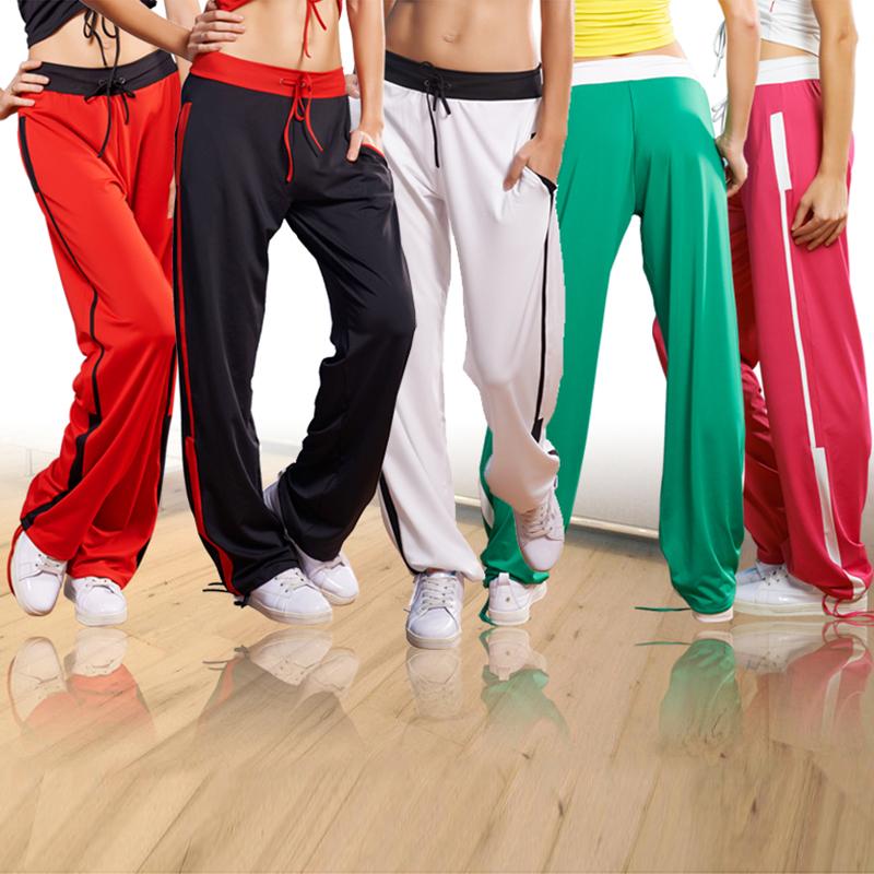 路伊梵广场舞裤子女长裤直筒裤秋季运动健身跳操舞蹈裤团体队服装