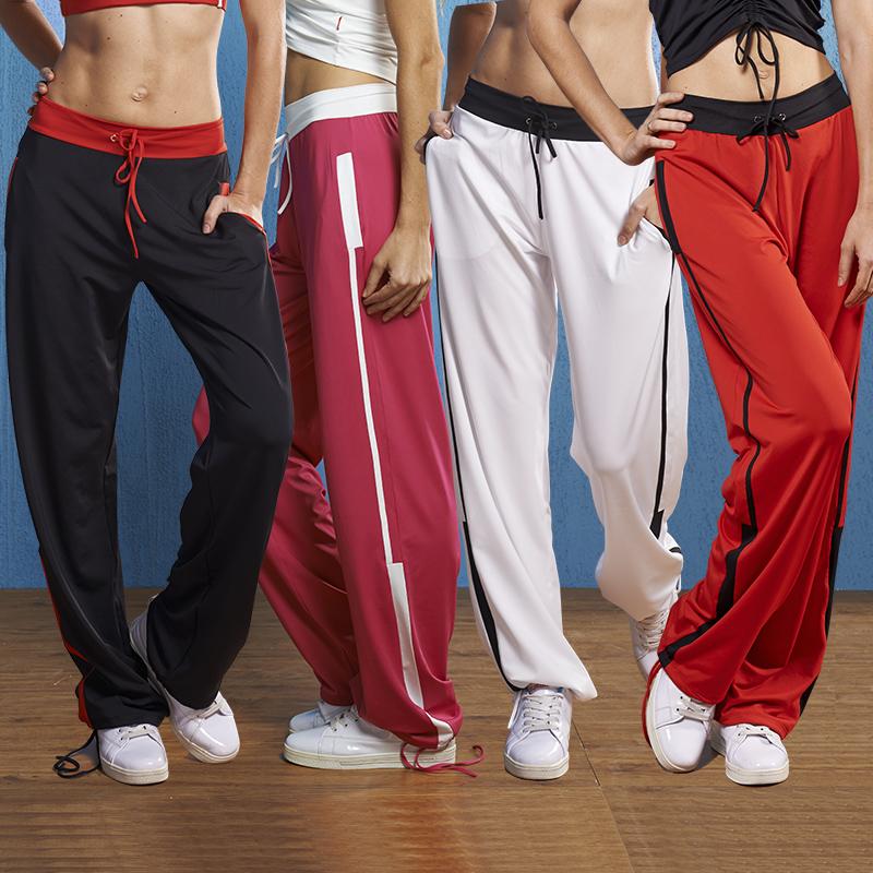 路伊梵广场舞裤子女长裤秋天跳操舞蹈裤运动健身直筒裤团体队服装
