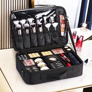 NICELAND化妆包女便携大容量专业化妆师跟妆品收纳包纹绣工具箱盒