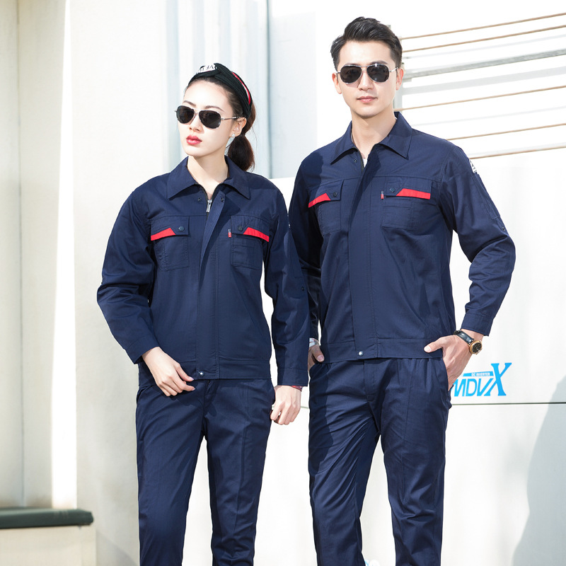 Autumn and winter long sleeve anti-static clothes railway electrician safety clothes inspection supervision work clothes gas station uniform gas filling clothes
