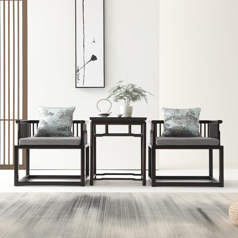新しい中国式のチェア3点セットの木造書斎椅子現代中国式の太師椅子原木仿古ソファレジャーチェア