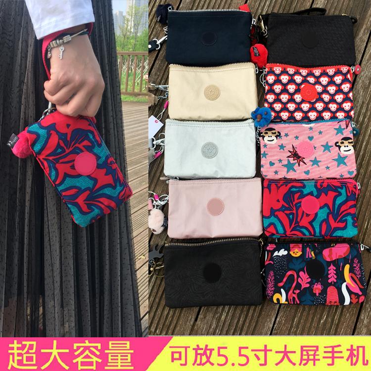 K家猴子零钱包女帆布韩国简约可爱隔层2019新款小号个性手拿(非品牌)