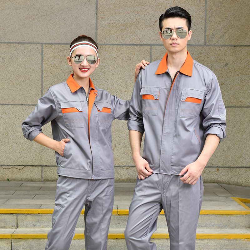 Autumn and winter factory workshop labor protection engineering uniform enterprise electrician welder clothing machinery factory mold processing garment worker