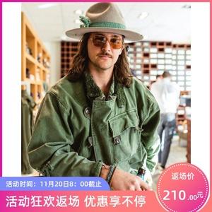马登工装美式瑞典机车夹克阿美咔叽纯棉洗水军绿色外套男女夹克潮
