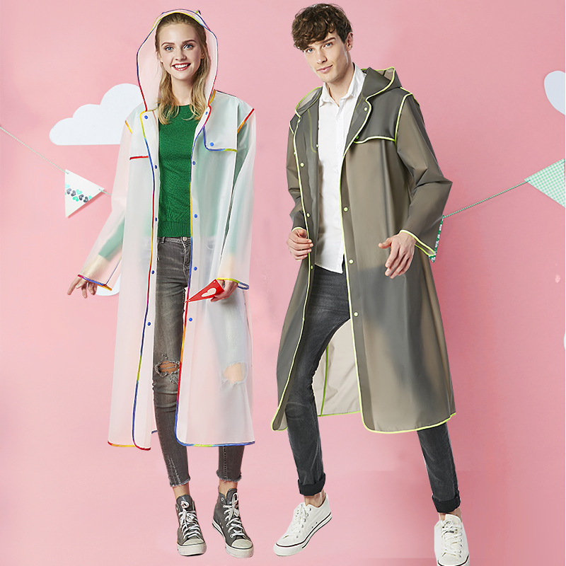 Increase the thickness of raincoat for male and female students