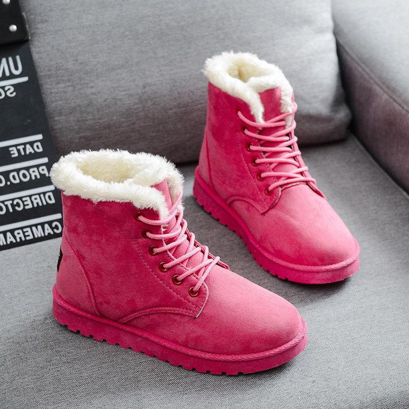 2019新款秋季加绒加厚平底雪地靴棉鞋短靴女鞋短筒马丁靴女靴子57