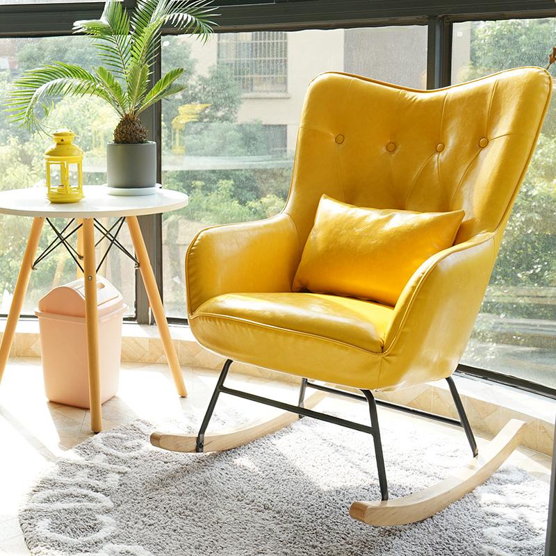 北欧摇椅沙发躺椅摇摇椅逍遥椅老人椅卧室阳台休闲椅午睡椅懒人椅
