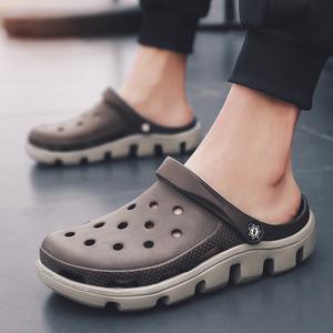 2019新款夏季男士洞洞鞋拖鞋子沙滩鞋韩版休闲男鞋半拖鞋大码凉鞋