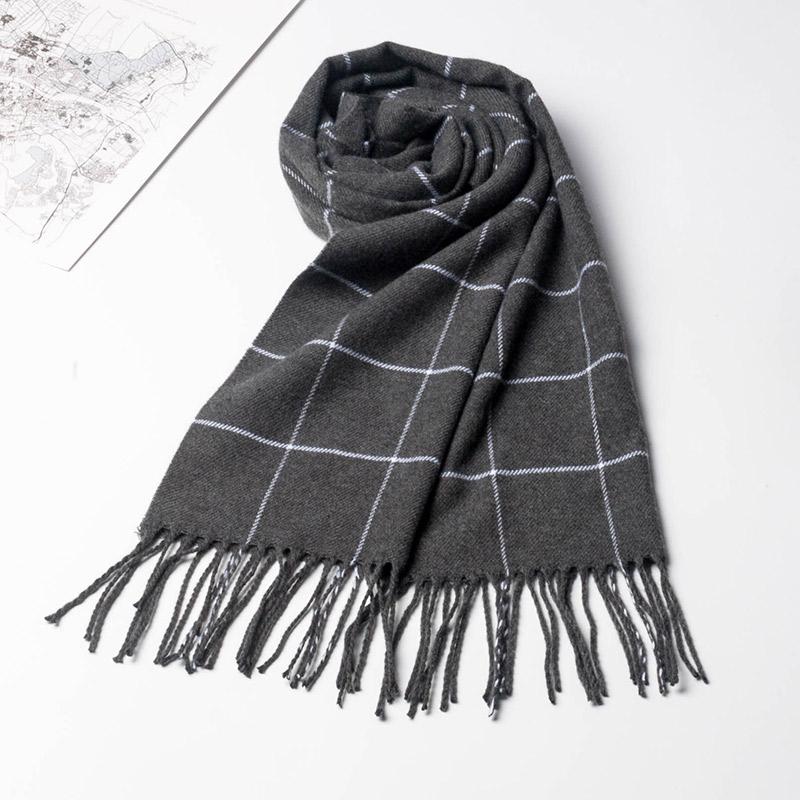 围巾保暖男士2019新款围脖秋冬季高档冬季仿羊绒混搭格子学生礼物