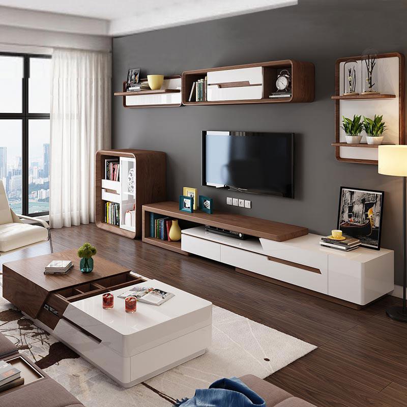 Кофейный столик телевизионный шкаф комбинированный набор простой современный нордический гостиная мебель многофункциональный хранение кофейный столик стол шкафы