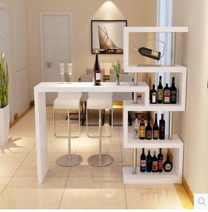 包邮定做简约现代家用靠墙旋转小吧台桌简易玄关酒柜客厅屏风隔断