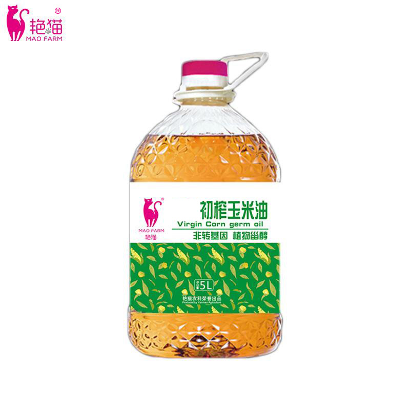 5L yanmao corn oil physical pressed edible oil healthy