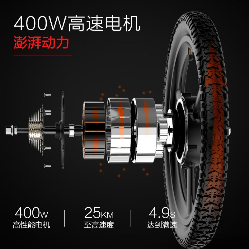 Electric bicycle lithium battery adult male and female small folding electric car battery car new tram