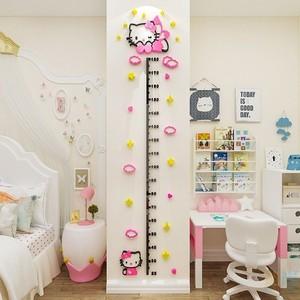 测量身高墙贴亚克力3d立体可移除儿童房装饰精准贴纸客厅卧室简约