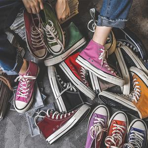 高帮帆布鞋女鞋百搭板鞋2021年春秋季新款ulzzang韩版ins潮布鞋子
