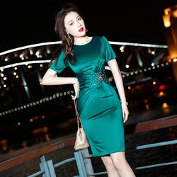 小晚礼服2020新款秋季短款包臀女士气质主持洋装晚宴宴会连衣裙女