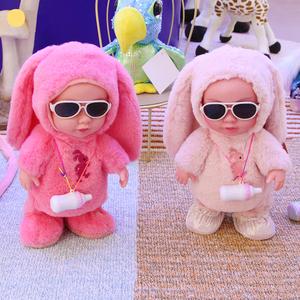 毛绒吃奶瓶洋娃娃会唱歌的智能玩具