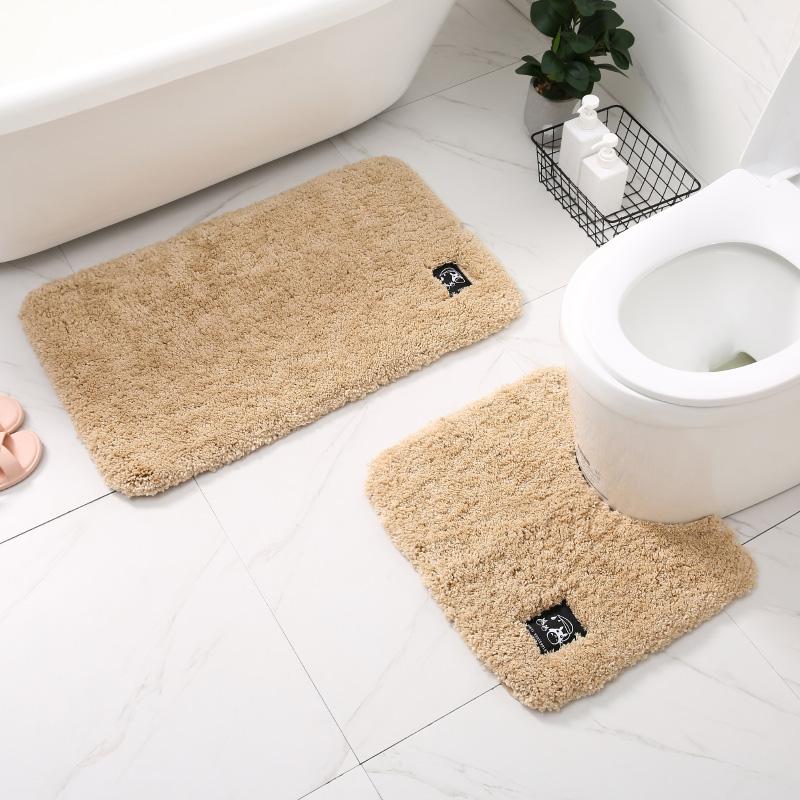 全棉浴室吸水地垫马桶U型脚垫卫生间防滑垫卫浴洗澡厕所地毯门垫