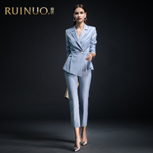 Ruinuo suit women's 2019 new fashion temperament high end professional dress broadcast art test dress Goddess Dress