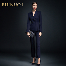 Ruinuo suit women's autumn and winter 2019 new temperament fashion high end business dress interview professional tooling