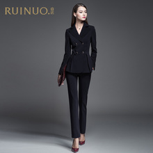 Career suit women's 2019 new fashion temperament slim suit leisure business work clothes formal dress