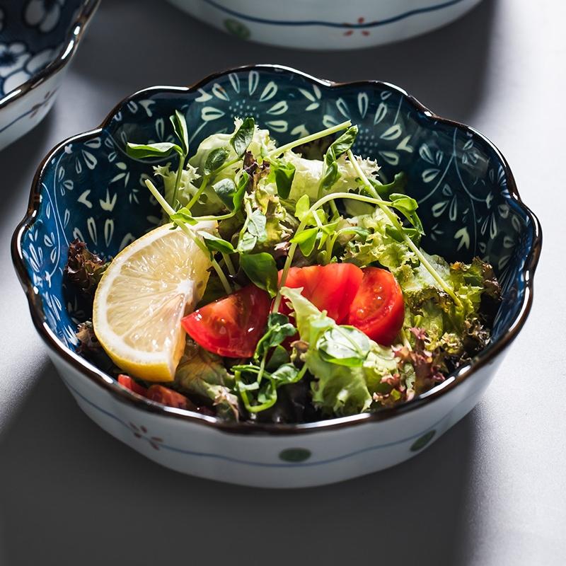 水果沙拉碗日式陶瓷餐具创意可爱家用西瓜碗焗饭碗个性耐热甜品碗