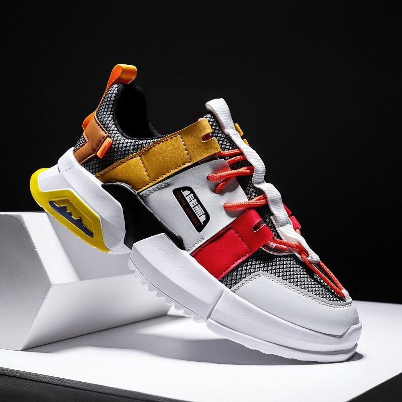 Spring 2020 Augustus mens shoes Pangu casual running mens shoes autumn trend mens daddy shoes