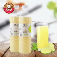 Йонгда лимонный сок только Это лимонный сок 950мл замороженный сок неконцентрированный сок с жемчужинами Ингредиенты магазина молочного чая