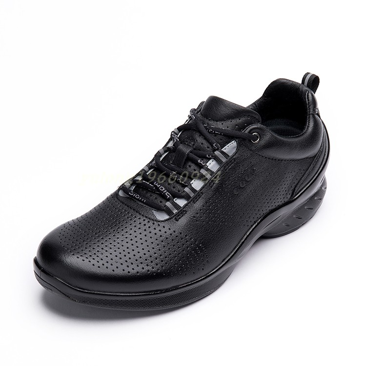 Spring and summer European station top layer leather mens shoes leather breathable anti slip outdoor casual shoes sports walking shoes package mail